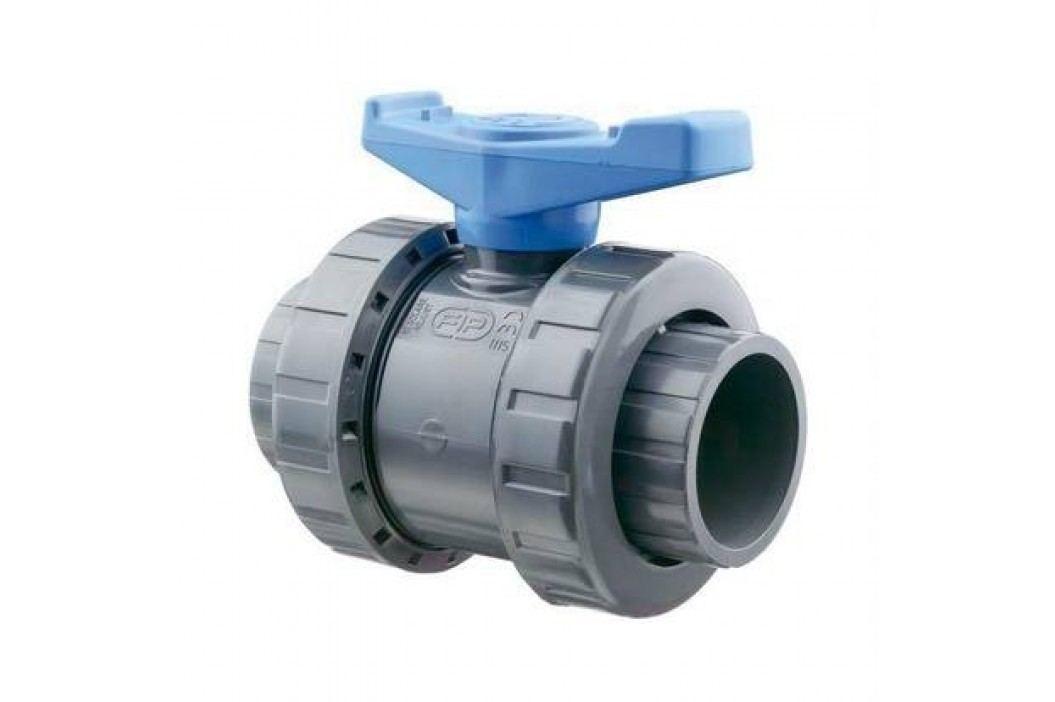 Kulový dvoucestný ventil PVC  - 90 mm