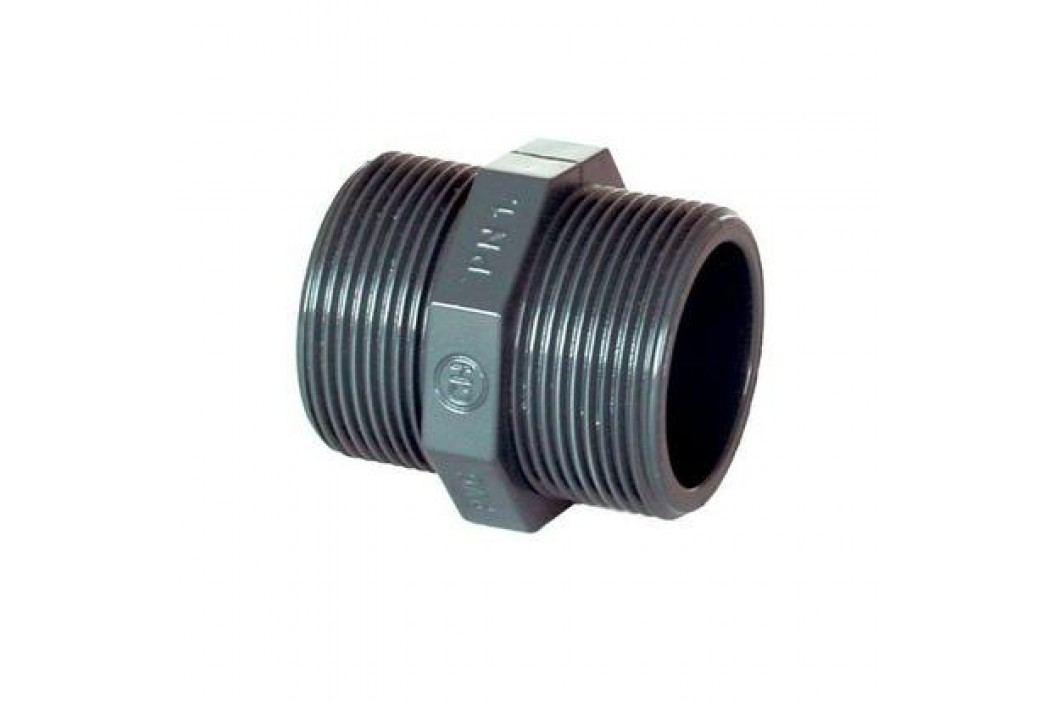 """Vágnerpool PVC tvarovka - Dvojnipl :: Dvojnipel ½"""" ext. Vodoinstalační materiál"""