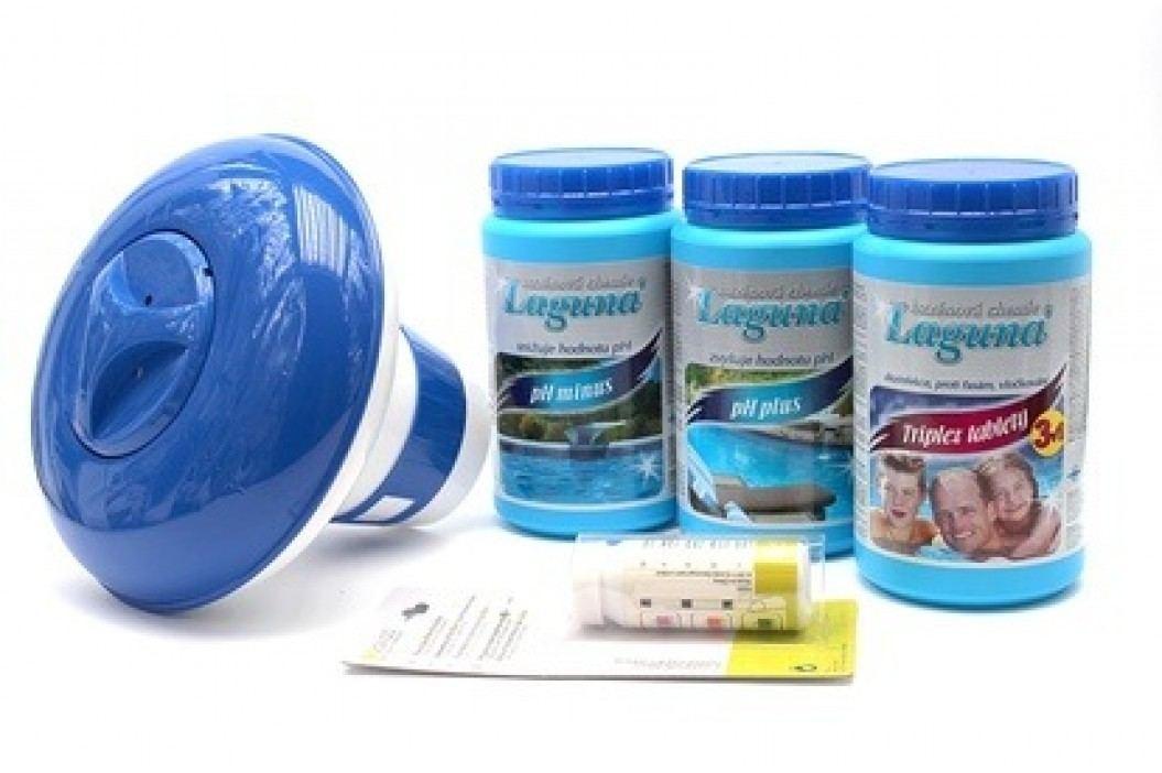 I.Základní set na chlorové ošetření vody (Triplex tablety, pH-, pH+, tester, plovák) Sety bazénové chemie