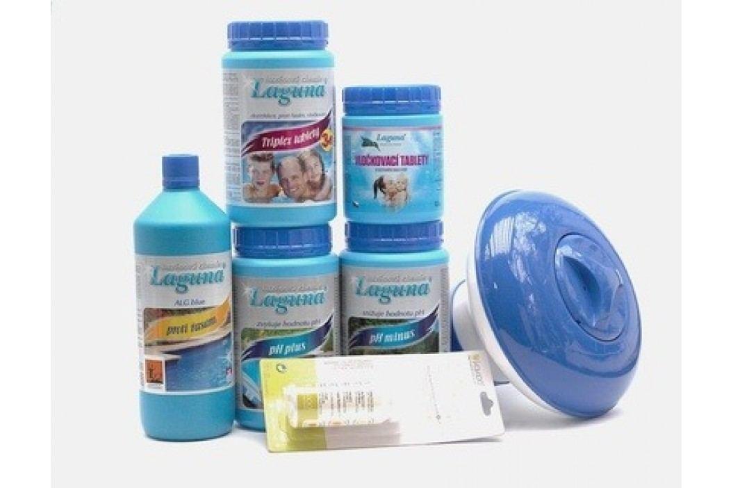 III. Set na chlorové ošetření vody (Triplex tablety, pH-, pH+, Algicid, Vločkovací tablety, tester, plovák) Sety bazénové chemie