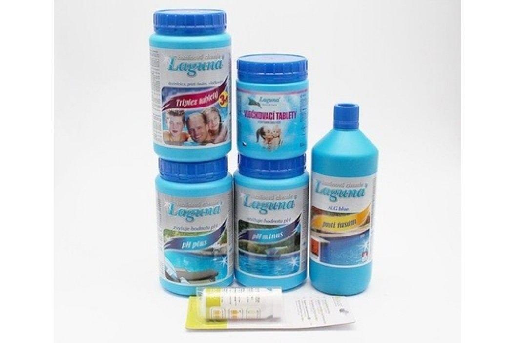 IV.Set na chlorové ošetření vody (Triplex tablety, pH-, pH+, Algicid, Vločkovací tablety, tester) Sety bazénové chemie