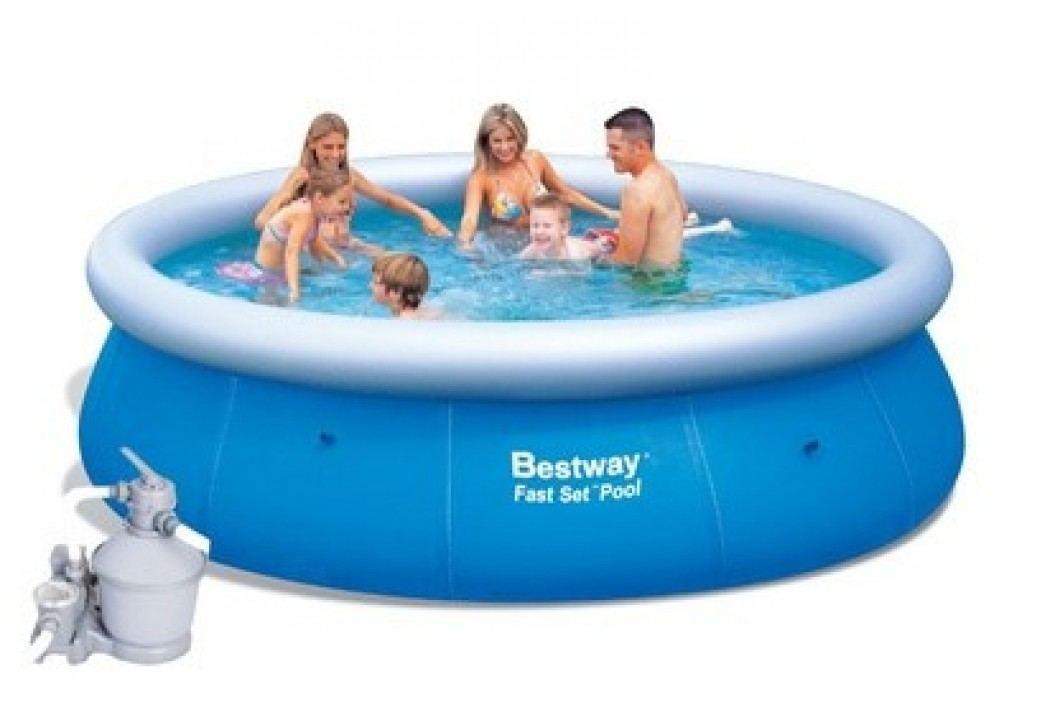 Bazén Bestway 4,57 x 1,22m set + písková filtrace 3,7m3/hod Bazény Bestway Fast Set