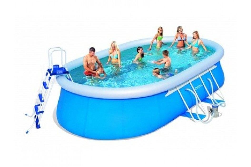 Bazén Bestway ovál 5,49 x 3,66 x 1,22m set včetně příslušenství Bazény Bestway Fast Set