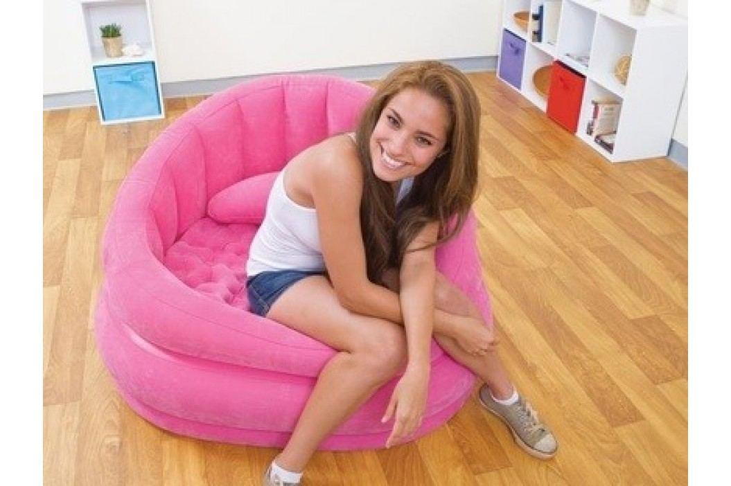Nafukovací křeslo  Intex Loungen Cafe Chair   růžové