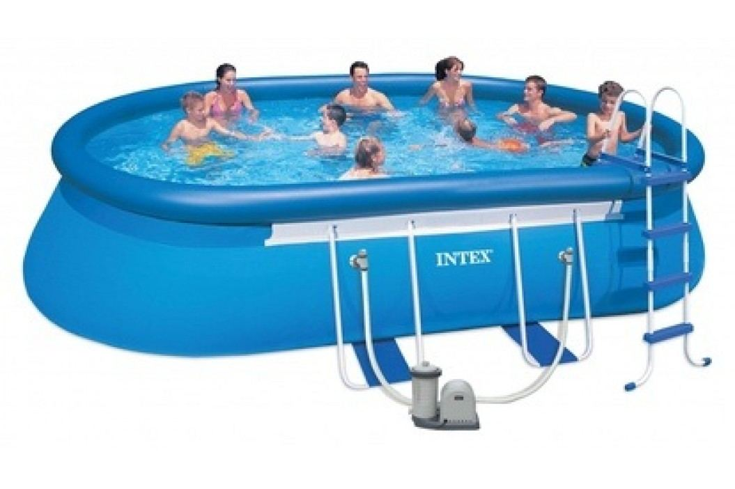 INTEX OVAL FRAME POOL 6,10 x 3,66 x 1,22 m 26194NP Bazény INTEX Easy Set