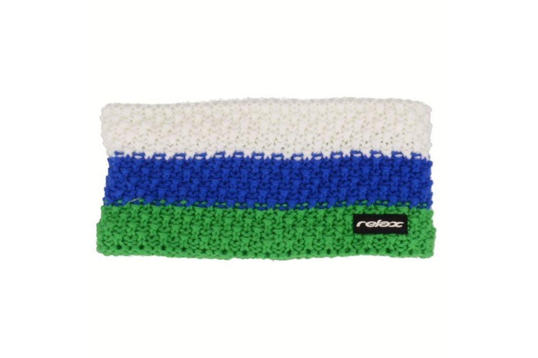 Relax Zimní čelenka Stripy zelená, modrá, bílá Rkh116B Dospělá Čelenky