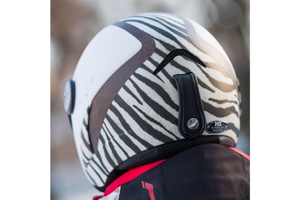Hmr H2 zebra/white/lthr. + štít Vtm007 M