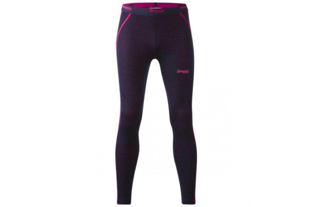 Bergans Dětské kalhoty Akeleie Youth Tights Navy/Hot Pink 128 Dětské kalhoty