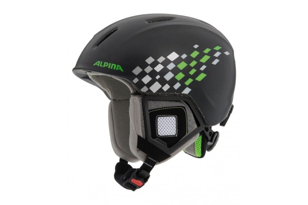 Alpina lyžařská  Carat XT jr. Black green 48-52 Snowboardové přilby