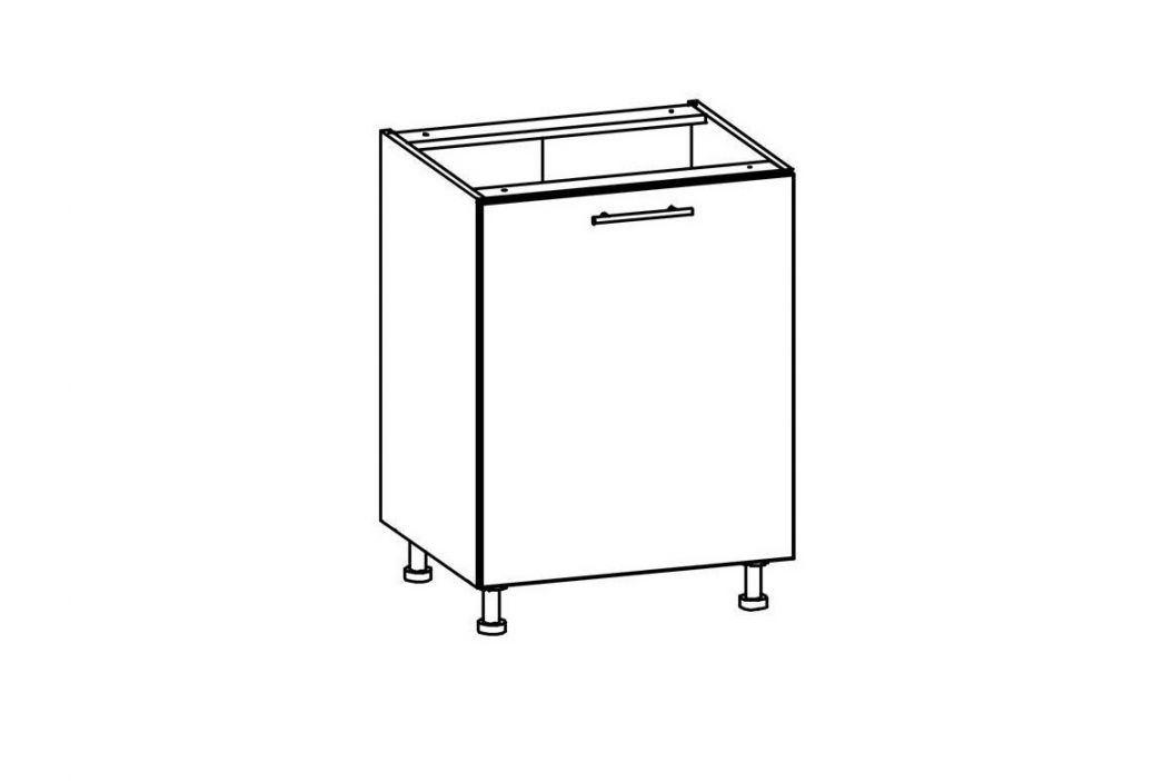 T19/D60 - TIFFANY, dolní skříňka D60, bílý lesk Kuchyňské linky