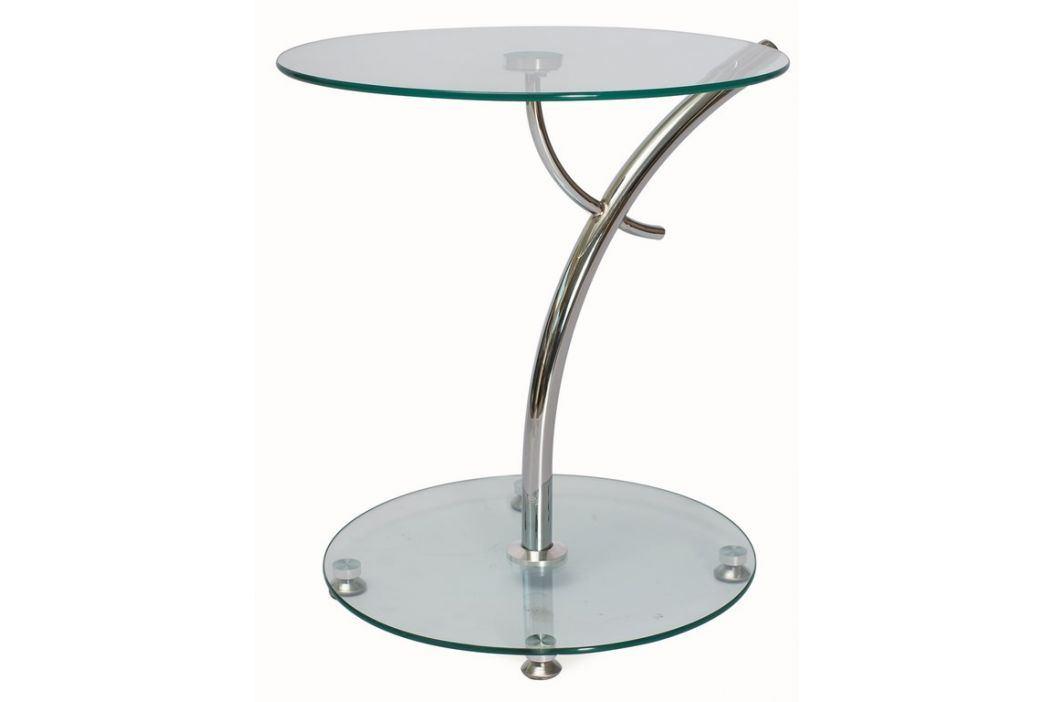 Konferenční stolek MUNA, sklo/chrom Konferenční stolky