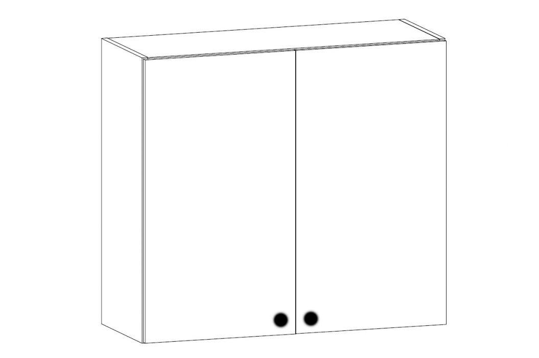 PROVANS horní skříňka s odkapávačem G80C, borovice andersen Kuchyňské linky