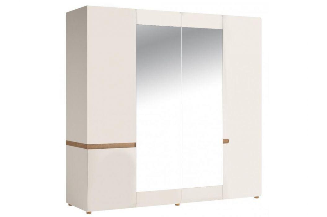 LINATE/23, skříň 4D, alpská bílá/trufla