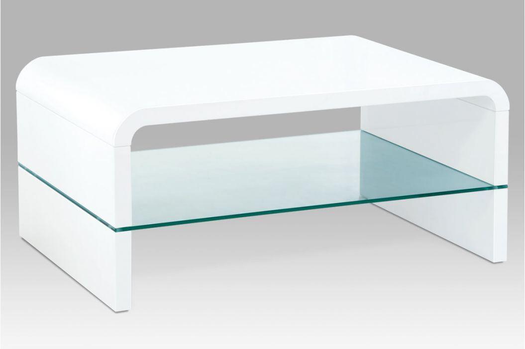 Konferenční stolek AHG-610 WT, bílý lesk Konferenční stolky