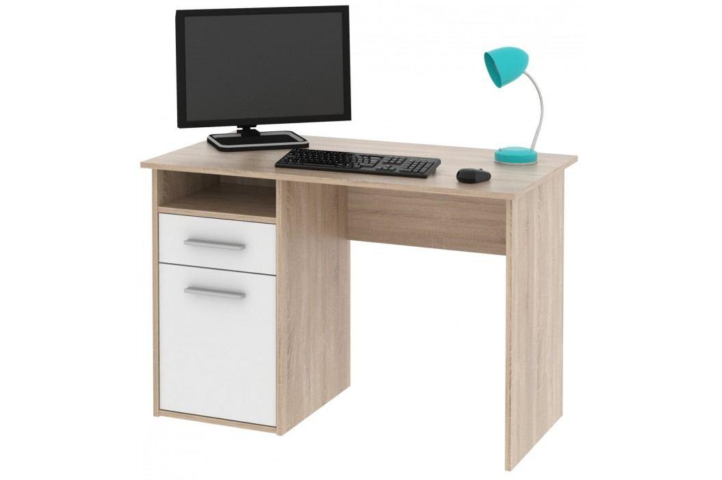 MIRO PC stůl dub Sonoma / bílá lamino Psací stoly