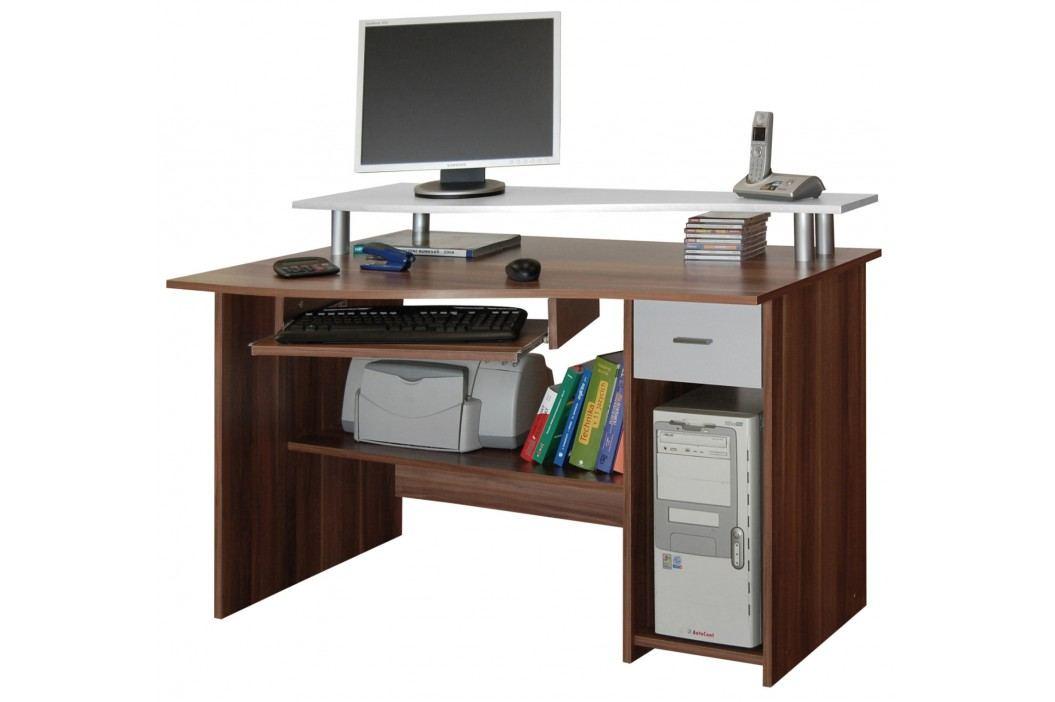 PC stůl LEON švestka/bílá MB LEON-švestka/bílá lamino