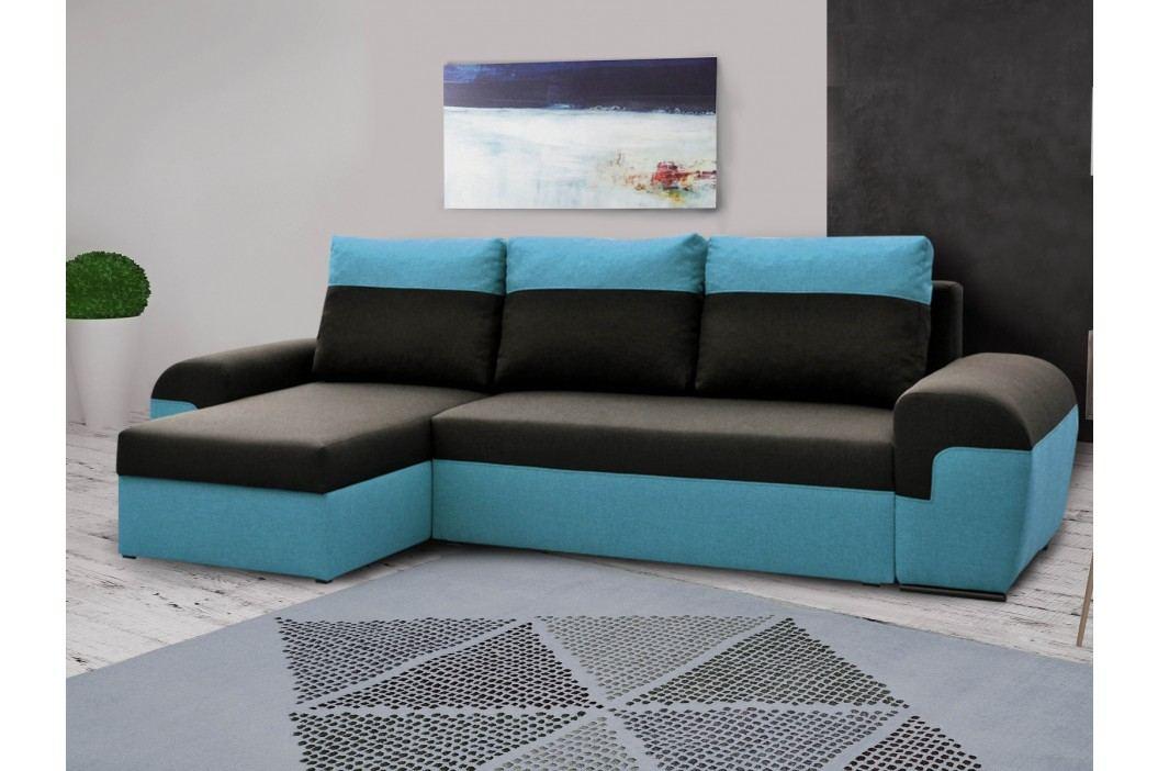 Univerzální smartshop Rohová sedačka MORY KORNER, černá/modrá DOPRODEJ látková Sedací soupravy