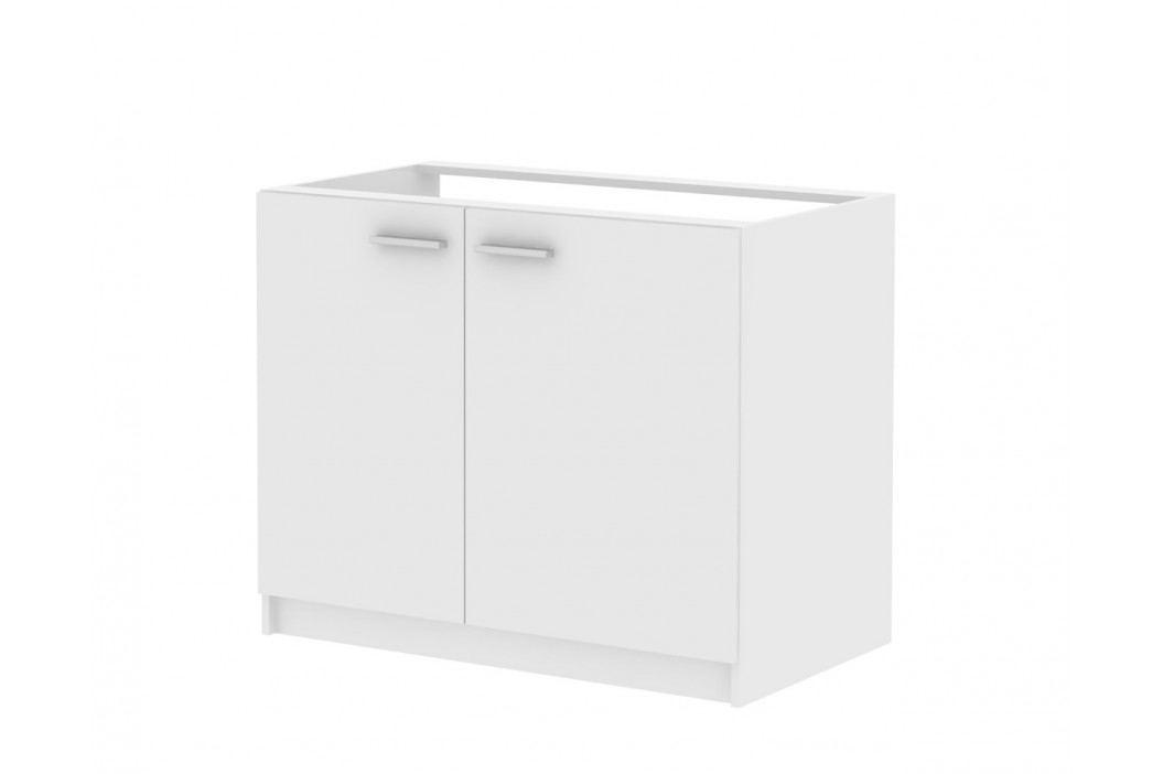 MB Domus Skříňka dvoudveřová pod dřez SMART 22, bílá, (šxvxh): 100x82x60 cm