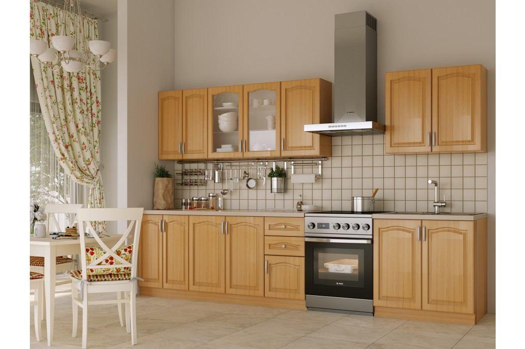 Béžová black Red White Kuchyně NIKA CLASSIC 260 cm, olše plastová
