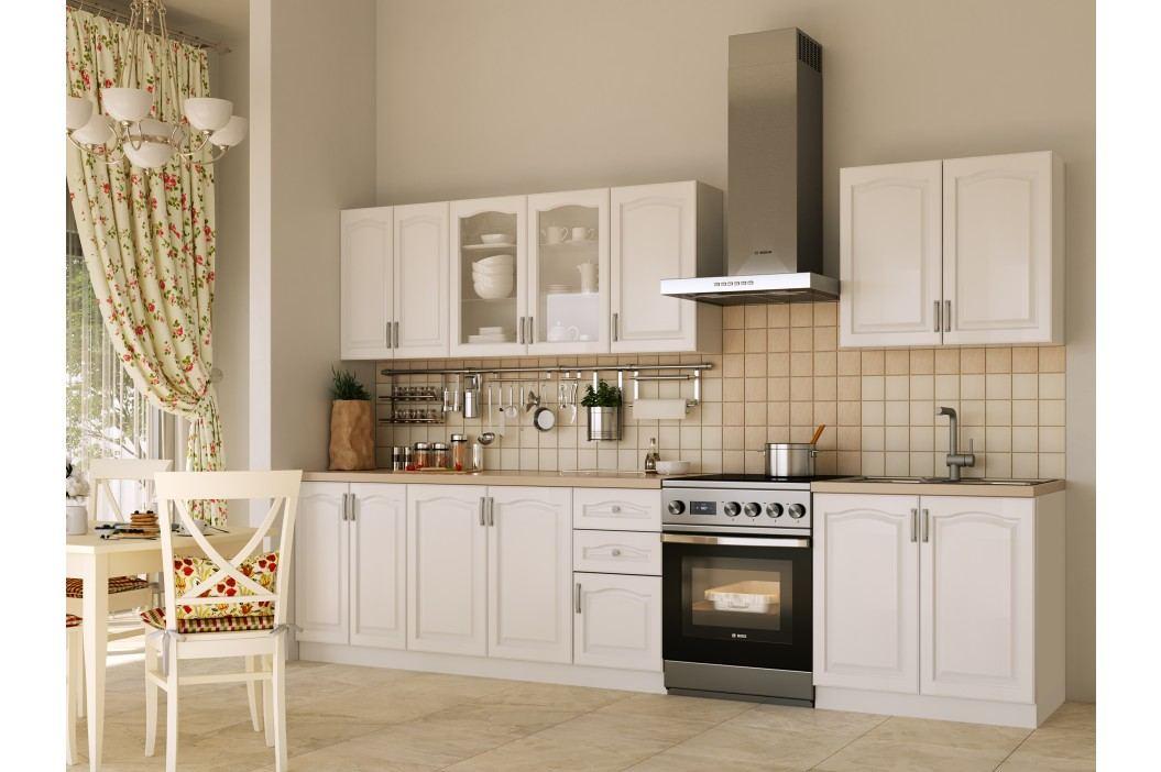 Béžová black Red White Kuchyně NIKA CLASSIC 260 cm, bílá plastová Kuchyňské linky