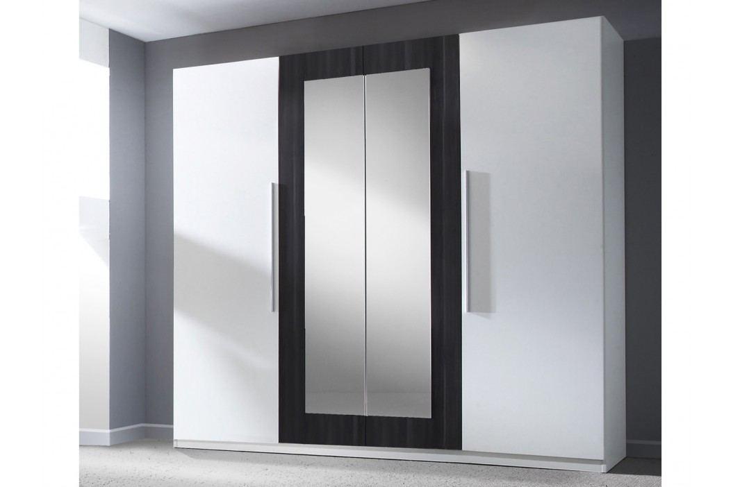 Smartshop VERA skříň se zrcadlem, bílá/ořech černý lamino