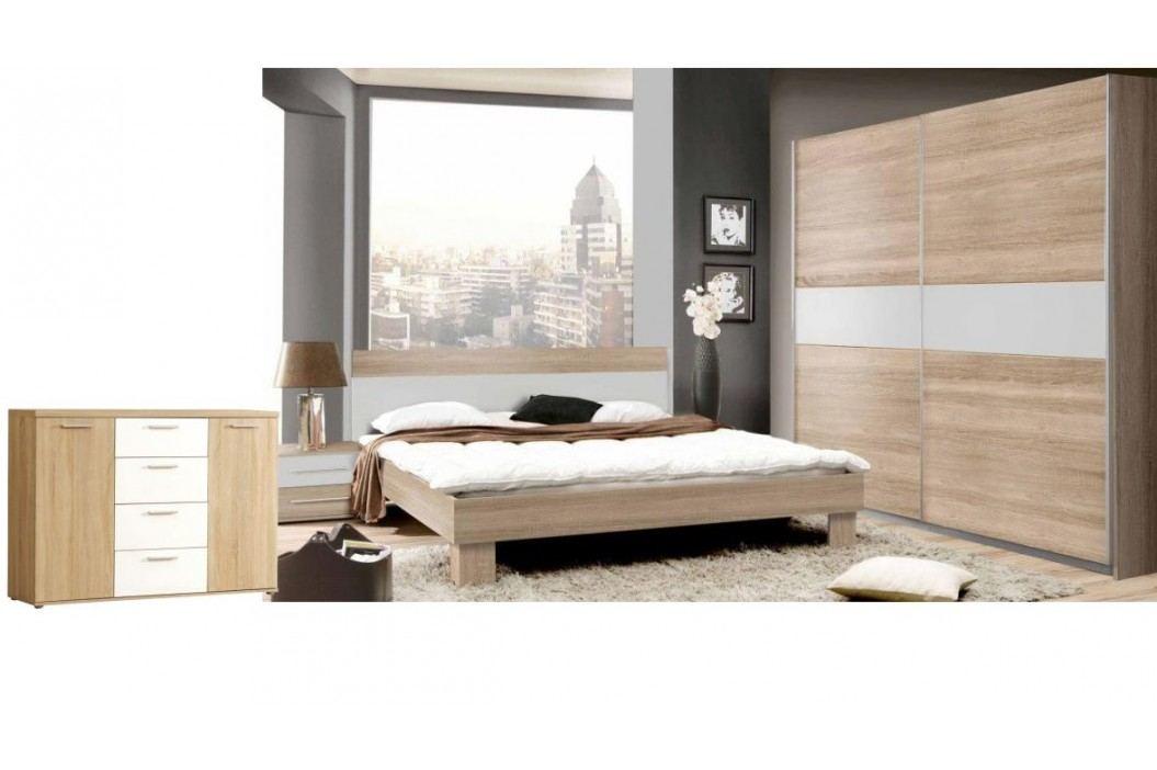 Moderní forte GOLDSTAR, ložnice komplet, dub sonoma/bílá Ložnice