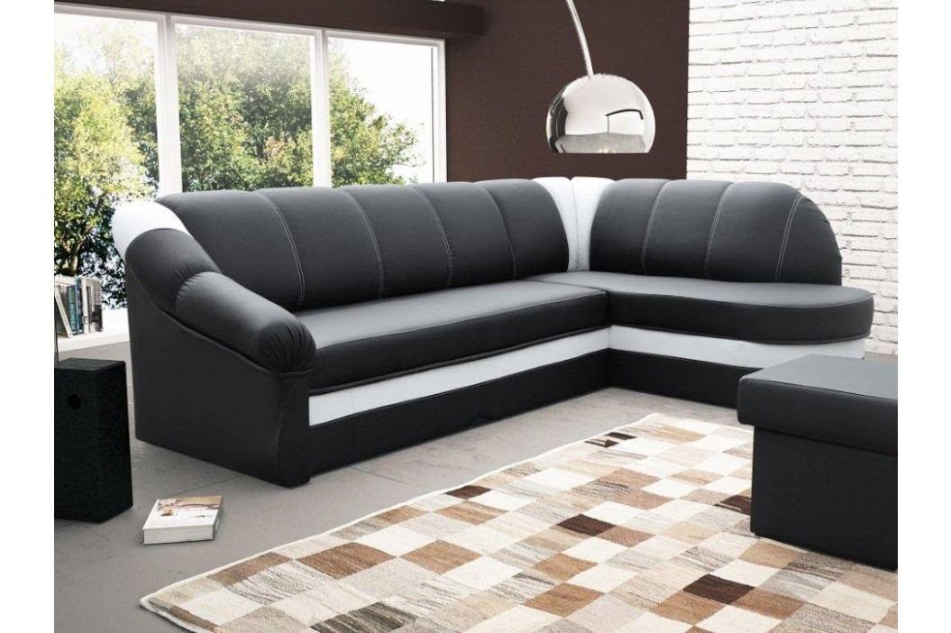 ELTAP Rohová sedačka BENANO B10 pravá, černá ekokůže/bílá ekokůže DOPRODEJ látková s úložným prostorem Sedací soupravy