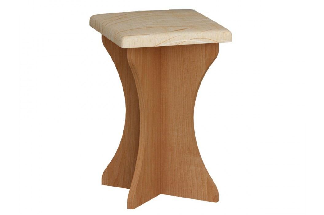 MORAVIA FLAT Čalouněný taburet do kuchyňské sestavy, barva: olše, látka: Monaco Taburety