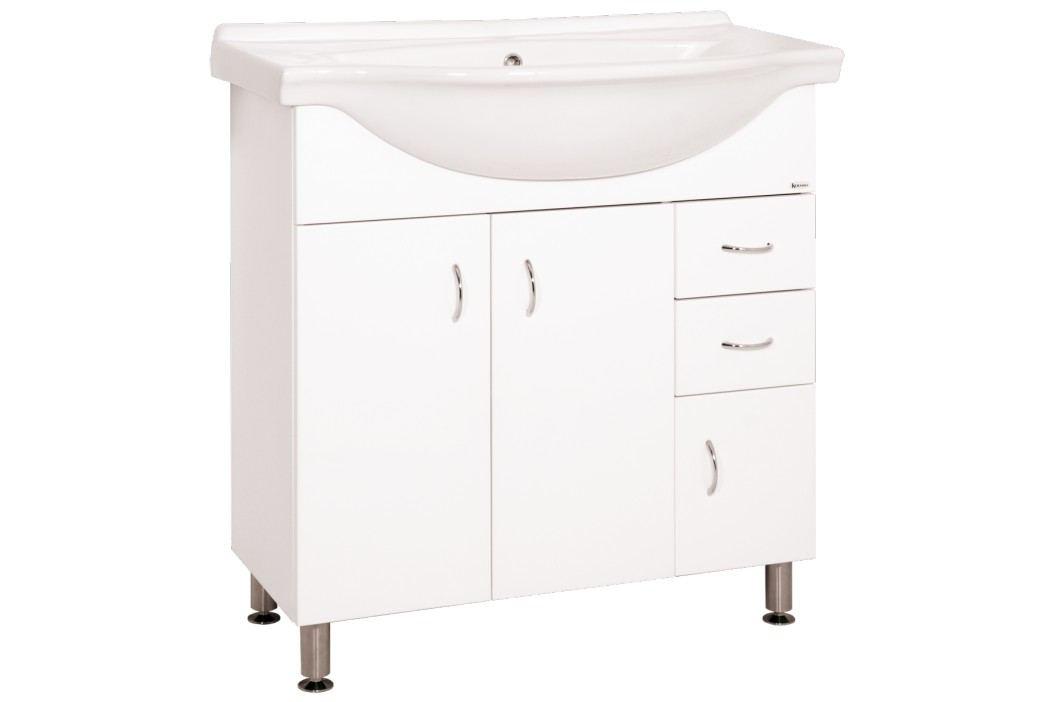 Skříňka s umyvadlem Keramia Pro 81 cm, bílá PRO80DV