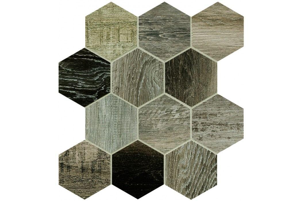 Dlažba Dom Barn Wood grey hexagon 35x37,5 cm, mat, rektifikovaná DBWEM40 Obklady a dlažby