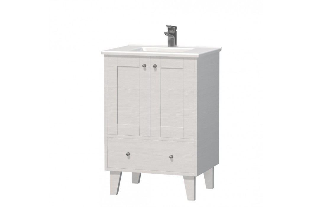 Skříňka s umyvadlem Naturel Provence 60 cm, bílá PROVENCE60BT