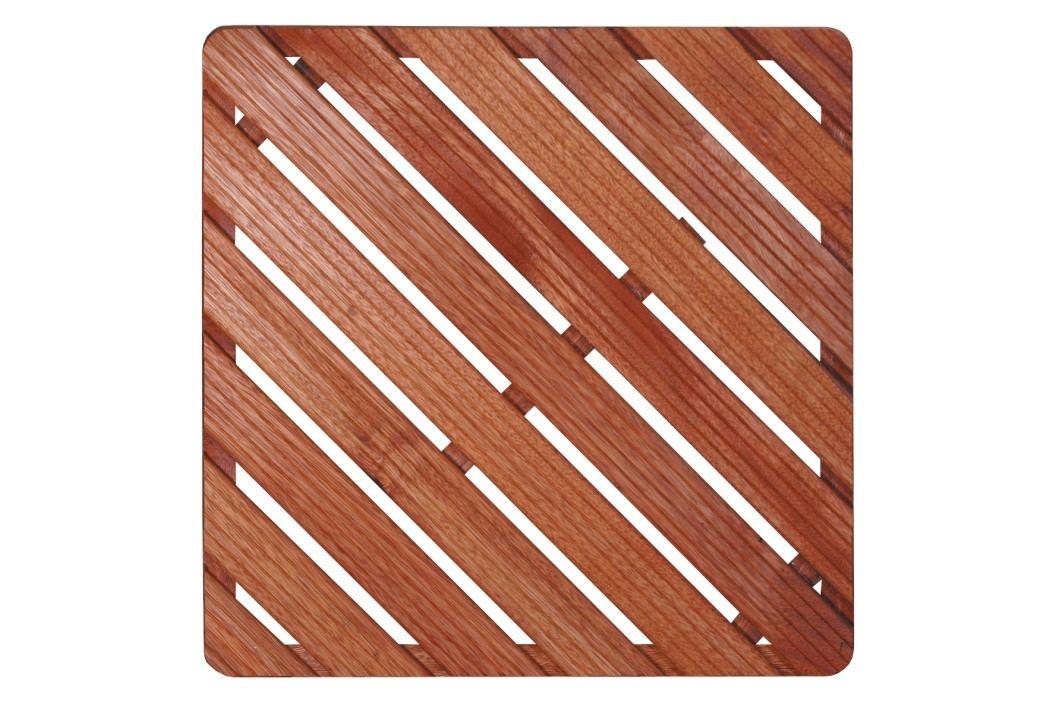 Sprchová rohož-dřevo ČTVEREC 75x75x4cm ROHOZ90Q Sprchové kouty
