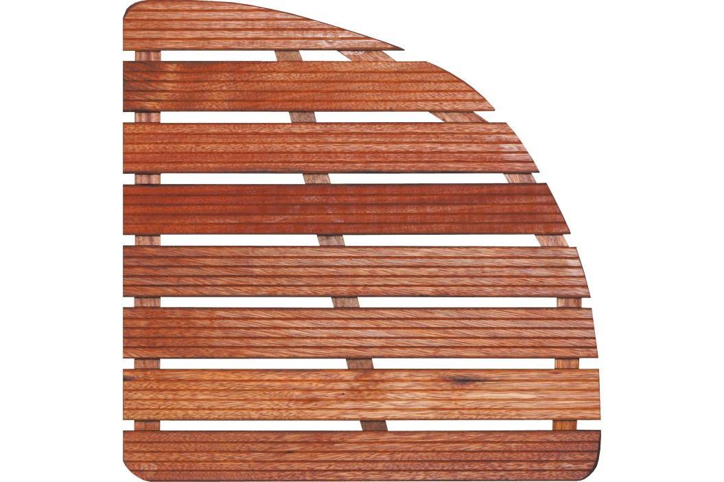 Sprchová rohož-dřevo ČTVRTKRUH 64x64x4cm ROHOZ80S Sprchové kouty