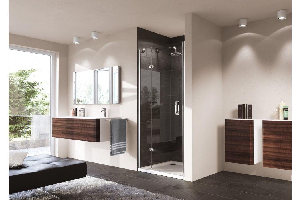 Sprchové dveře Huppe Strike jednokřídlé 80 cm, čiré sklo, chrom profil, levé 430101.092.322 Sprchové zástěny