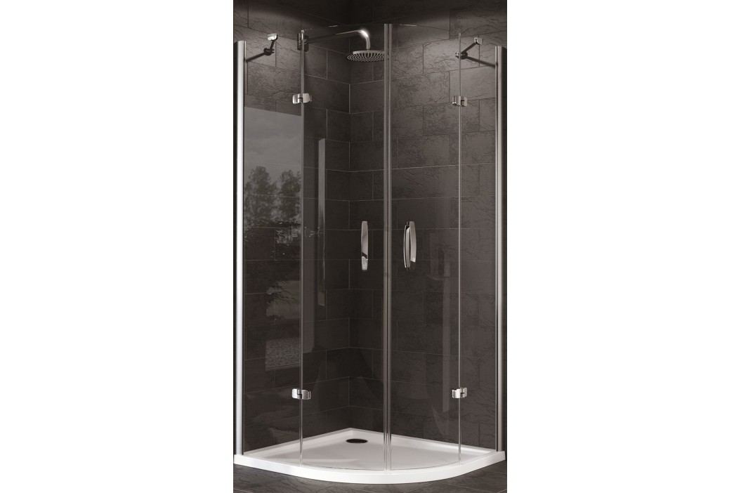 Sprchový kout Huppe Strike čtvrtkruh 100 cm, R 550, čiré sklo, chrom profil, univerzální 430804.092.322 Sprchové kouty