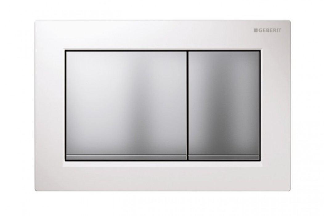 Dvojčinné ovládací tlačítko Geberit Omega plast, bílá 115.080.KL.1 Ovládací tlačítka