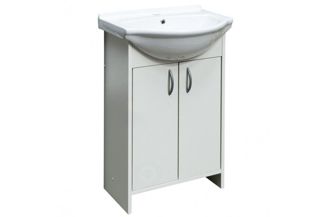 Skříňka s umyvadlem Multi Praxis 52 cm, bílá SPAMELIA Koupelnový nábytek