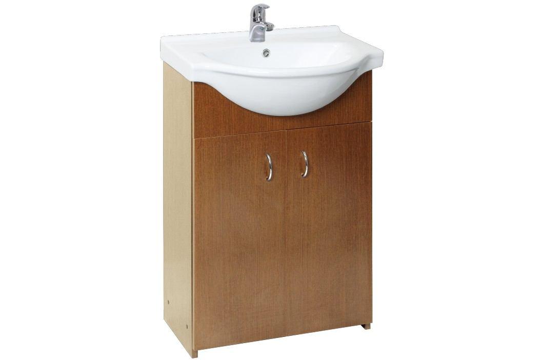 Skříňka s umyvadlem Multi Simple 55 cm, ořech SIMPLE55OR Koupelnový nábytek