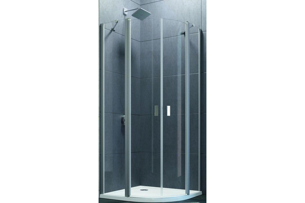 Sprchové dveře Huppe Design Pure jednokřídlé 80 cm, R 550, čiré sklo, chrom profil DPU280190CRT Sprchové zástěny