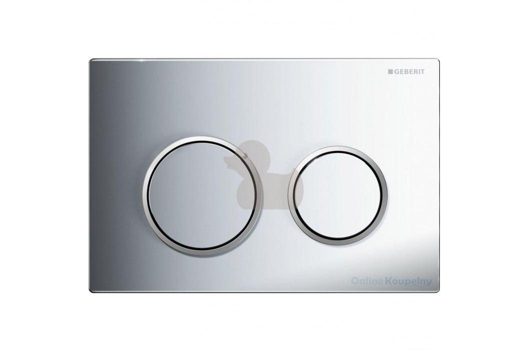 Dvojčinné ovládací tlačítko Geberit Omega plast, chrom 115.085.KH.1 Ovládací tlačítka