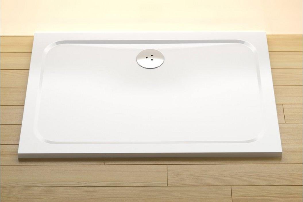 RAVAK Vanička GIGANT PRO 100x80 CHROME white XA04A401010 Sprchové vaničky