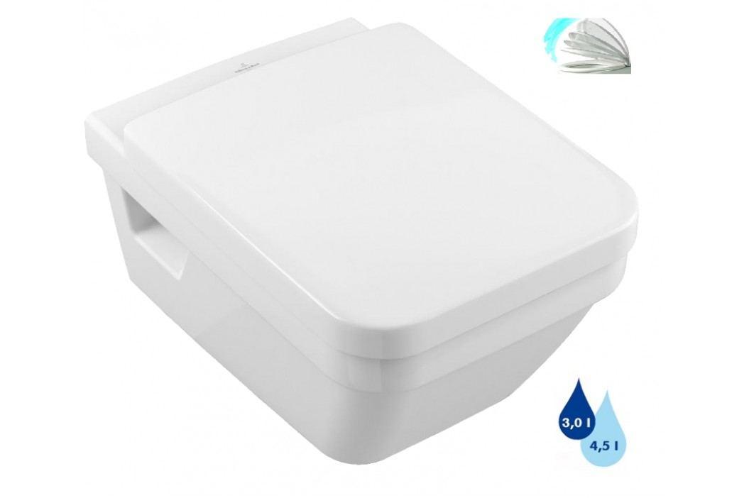 Závěsné WC se sedátkem softclose Villeroy & Boch Provence, zadní odpad, 53cm SIKOSVBOA56851S Záchody