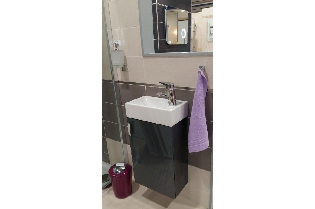 Skříňka s umývátkem Jika LITT 40 cm 39 cm, šedá, univerzální otevírání H4535111753011 Koupelnový nábytek