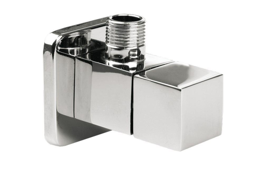Optima rohový hranatý ventil 1/2x3/8 chrom - RVQ Instalatérské potřeby