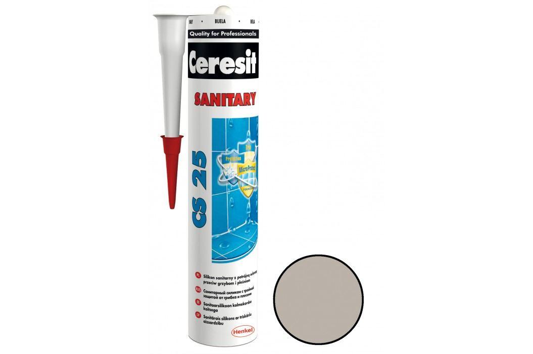 Silikon Ceresit CS25 280 ml šedá CS2507 Tmely, silikony a lepidla