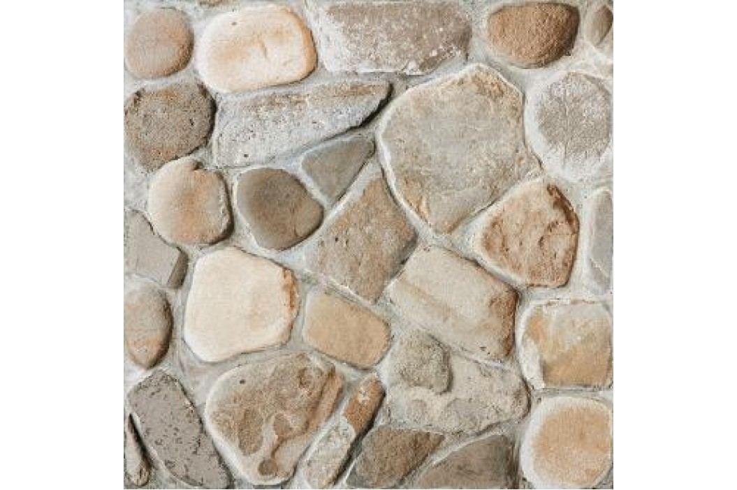 Dlažba Rako Pebbles béžovošedá 33x33 cm, reliéfní DAR3B702.1 Obklady a dlažby