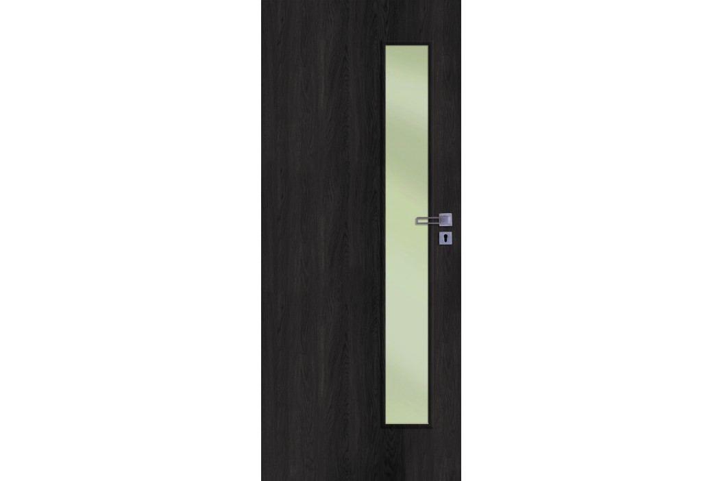 Interiérové dveře NATUREL Deca, 60 cm, levé, jilm antracit, DECA10JA60L Výhodná nabídka dveří skladem