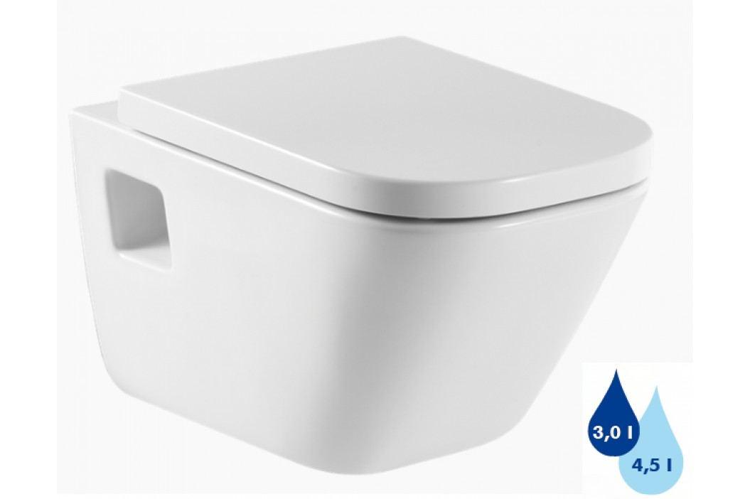 Závěsné WC Roca The Gap, zadní odpad, 54cm A346477000 Záchody
