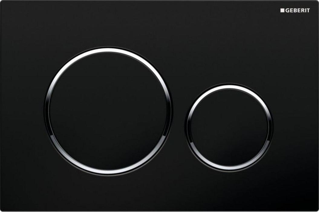 Dvojčinné ovládací tlačítko Geberit Sigma plast, černá 115.882.KM.1 Ovládací tlačítka