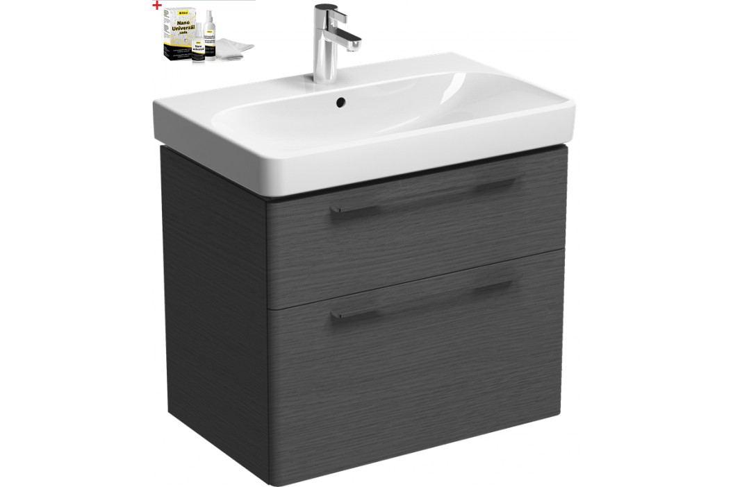 Skříňka s umyvadlem Kolo Kolo 75 cm, dub šedý SIKONKOT75DS Koupelnový nábytek